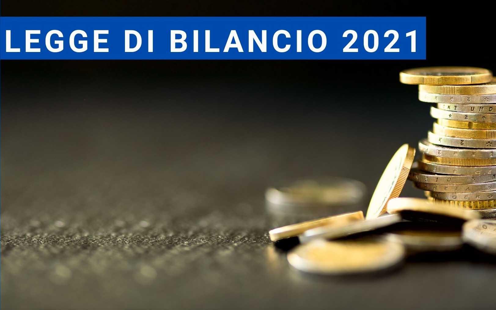 LEGGE DI BILANCIO 2021 - 13/01/2021