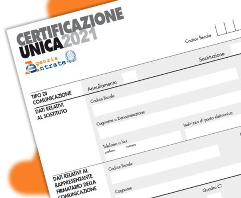 La Certificazione Unica 2021 - 26/02/2021